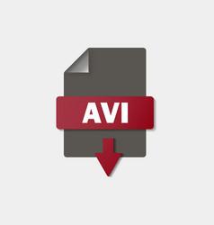Avi download icon on background avi button vector