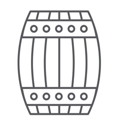 Barrel thin line icon container and storage vector