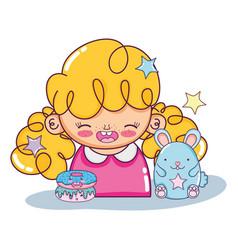 Beautiful girl cartoons vector