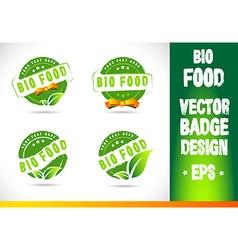 Bio food Badge Logo vector image