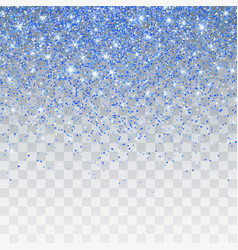Blue glitter sparkle on a transparent background vector