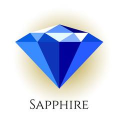 Blue shine triangle crystal vector