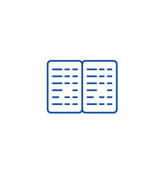 bookkeeping budget line icon concept bookkeeping vector image