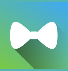 Bow tie icon white icon with gray dropped vector