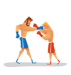 boxers in gloves sparring vector image