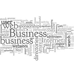Business web directories generate good business vector