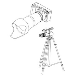cameras on white 3d vector image