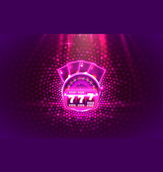 Casino 3d cover slot machines and roulette with vector