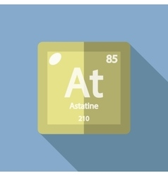 Chemical element astatine flat vector