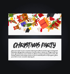 christmas party banner template vector image