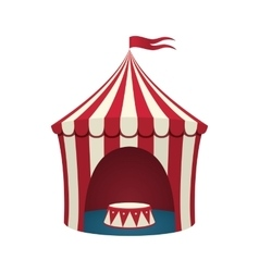 Circus tent isolated on white background vector