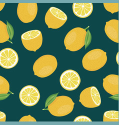 citrus seamless background lemon vector image