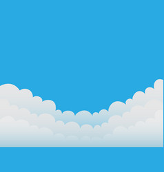 Clouds on a blue sky background good weather vector