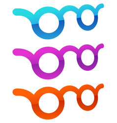 Colorful glasses vision optician optometry vector