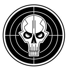 cool skull logo on white background vector image