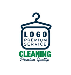Creative logo for dry cleaning or laundry service vector