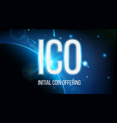 Creative of ico initial coin vector