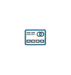 credit card icon line design business icon vector image