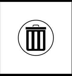 Delete and bin solid icon mobile sign and garbage vector