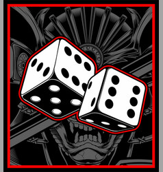 Dice black white vector