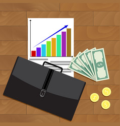 Financial business growth top view vector