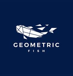 fish geometric polygonal logo icon vector image