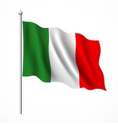 Flag italian vector