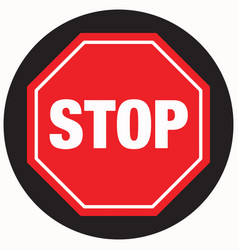 floor sign stop sign with black background vector image