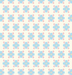Flower and Spiral Pattern on Pastel Color vector image