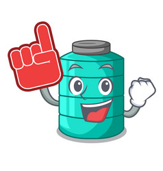 Foam finger cartoon water tank for in agriculture vector