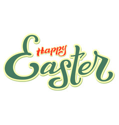 Happy easter lettering text for greeting card vector