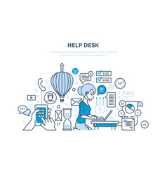 Help desk technical support system consulting vector