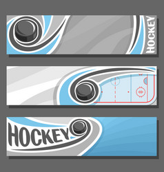 Horizontal banners for ice hockey vector