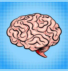 Human brain pop art style vector