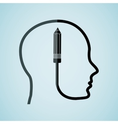 human profile design vector image
