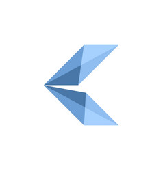initial letter k logo template with low poly jewel vector image