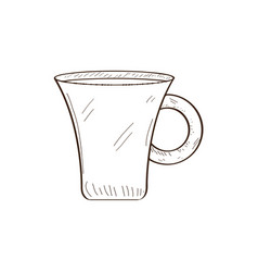 isolated retro coffee mug sketch vector image