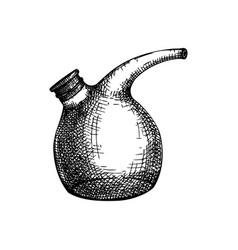 Laboratory equipment hand drawn glass beaker che vector