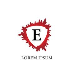 Letter e alphabet logo design template splash of vector