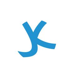 letter jk linked simple logo vector image