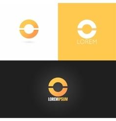 Letter O logo design icon set background vector