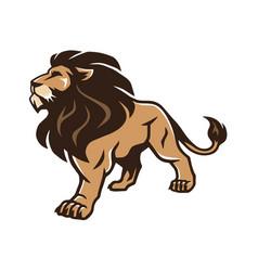 Lion stand pride logo mascot design vector