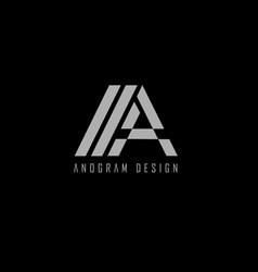 logo anogram vector image