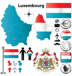 Luxembourg map vector