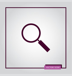 magnifier icon simple vector image