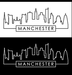Manchester skyline linear style editable file vector