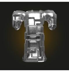 Metal figure t vector
