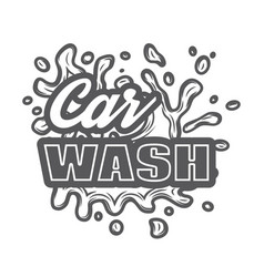 monochrome template for car wash logo design with vector image
