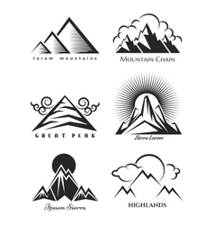 Mountain logo set collection vector