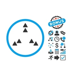 Move Out Flat Icon with Bonus vector image
